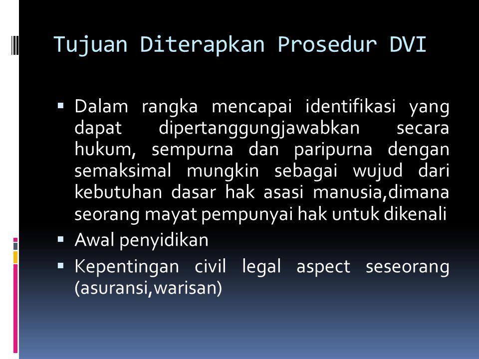 Tujuan Diterapkan Prosedur DVI