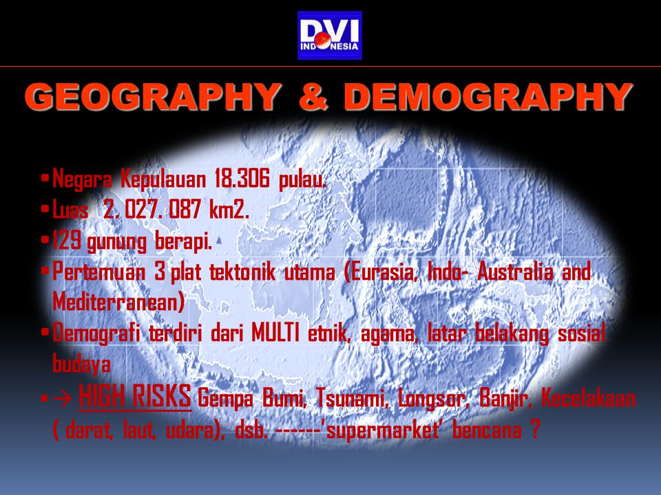 GEOGRAPHY & DEMOGRAPHY