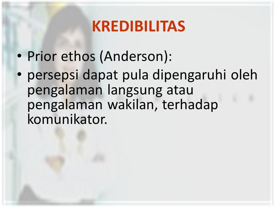KREDIBILITAS Prior ethos (Anderson):