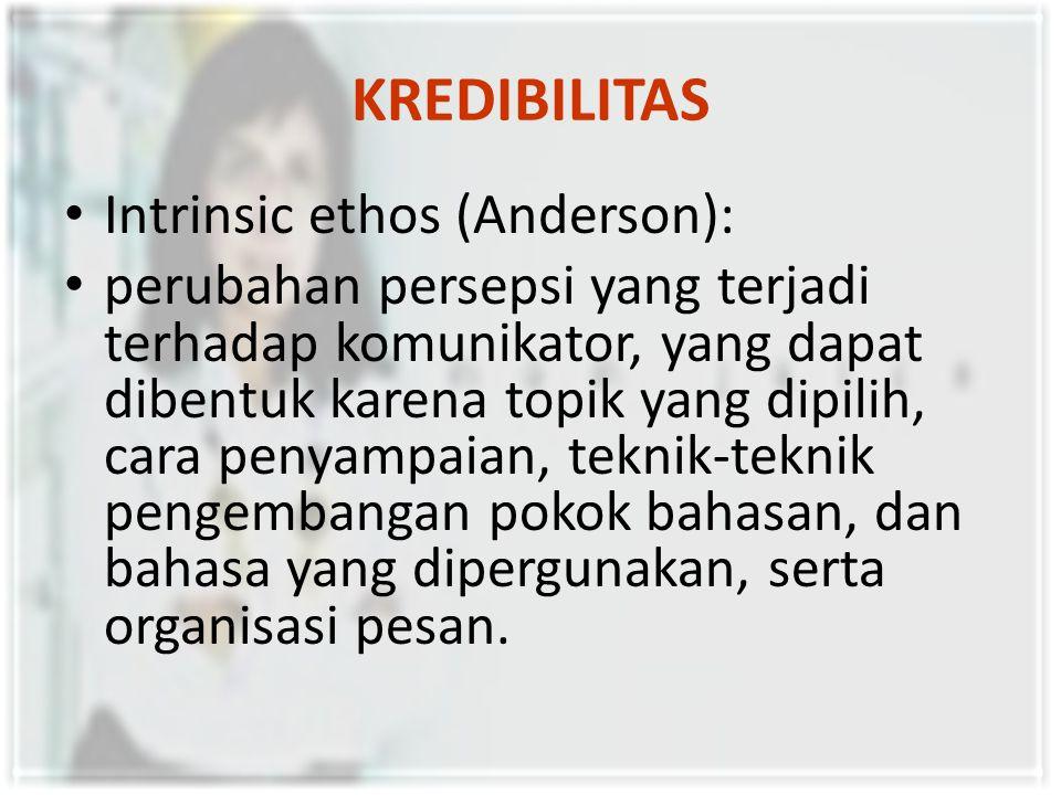 KREDIBILITAS Intrinsic ethos (Anderson):