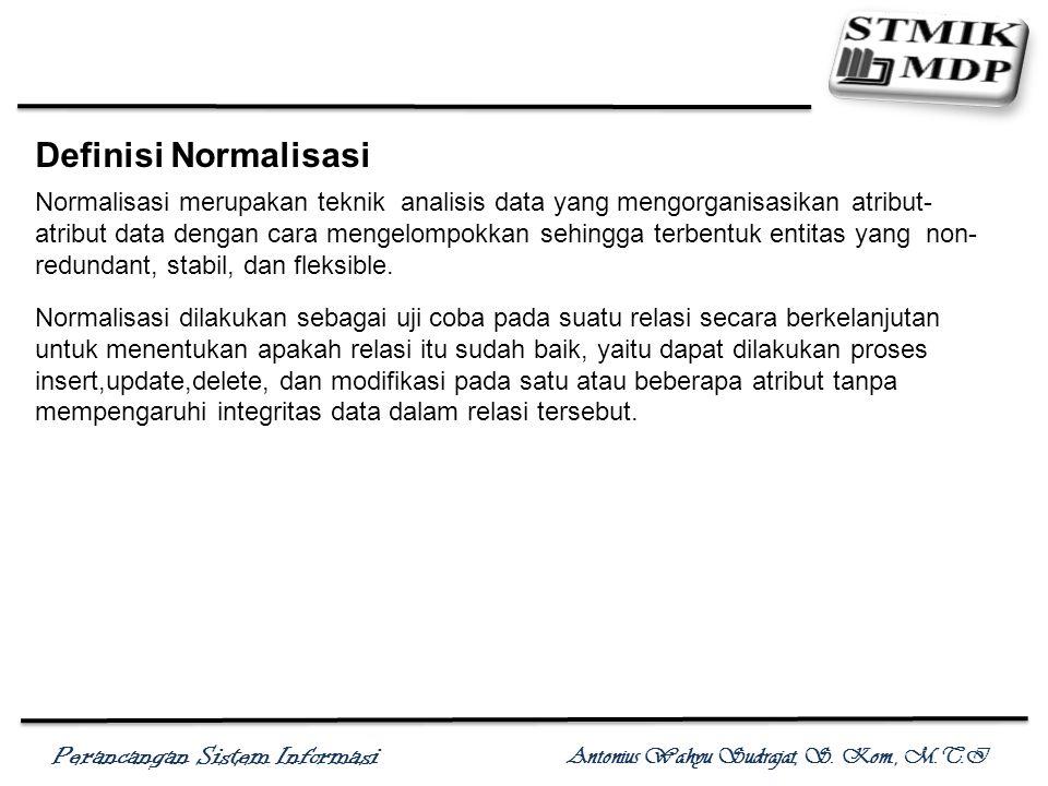 Definisi Normalisasi