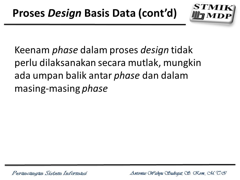 Proses Design Basis Data (cont'd)