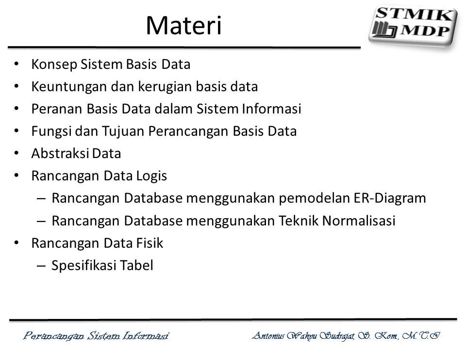 Materi Konsep Sistem Basis Data Keuntungan dan kerugian basis data