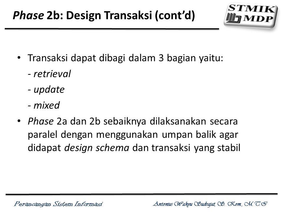 Phase 2b: Design Transaksi (cont'd)