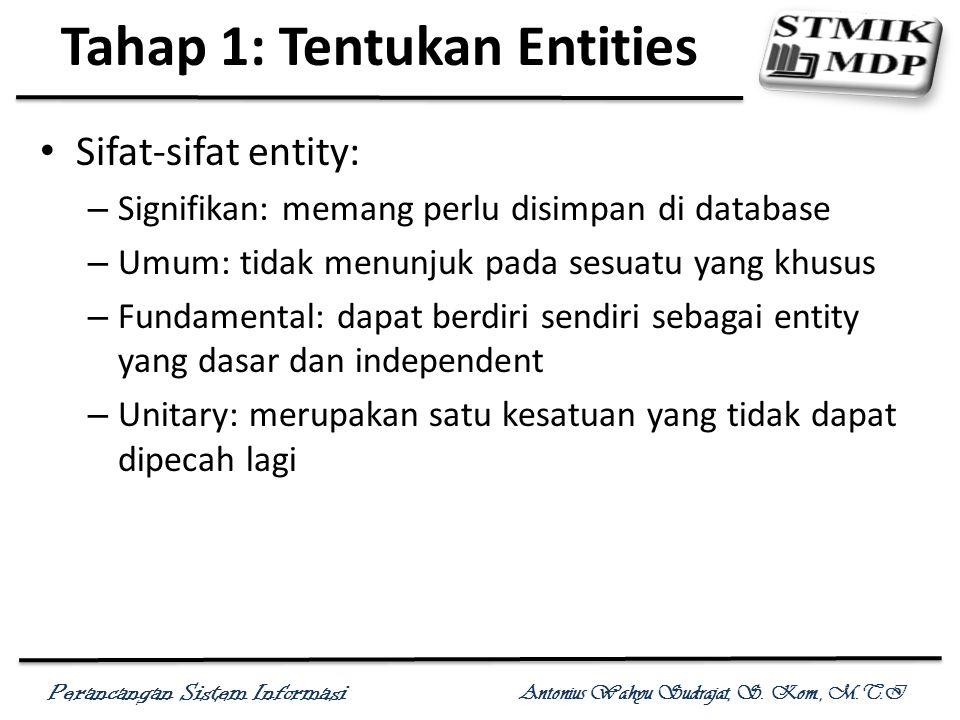 Tahap 1: Tentukan Entities