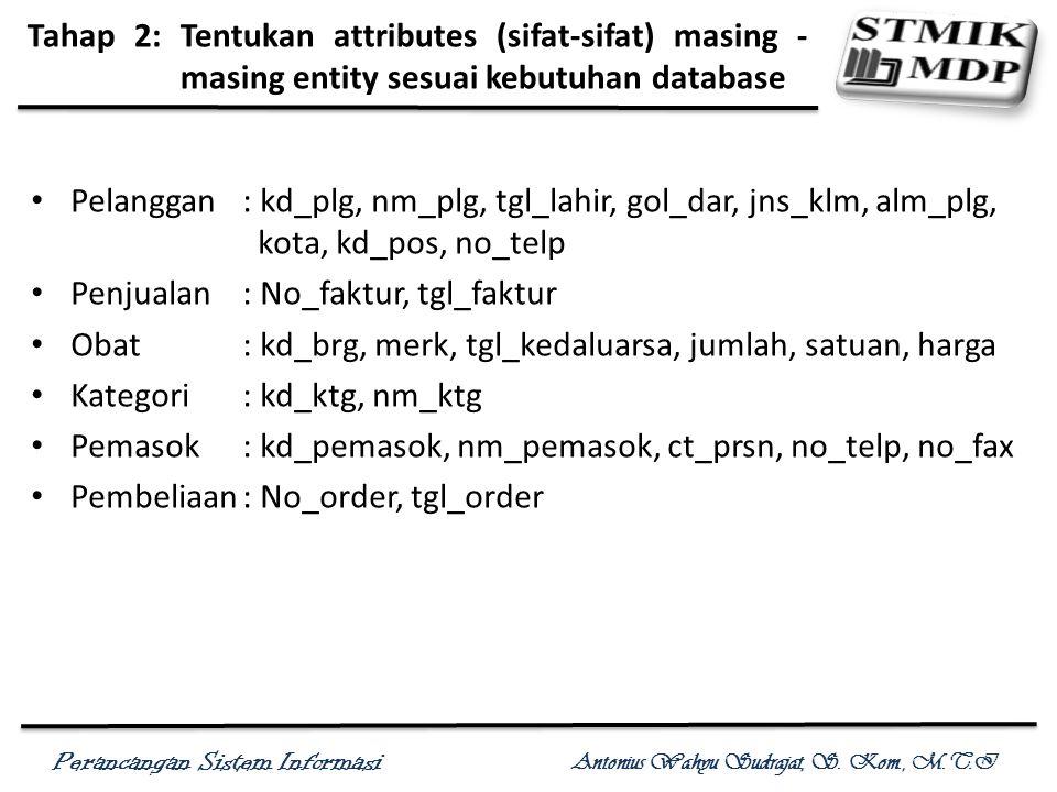 Tahap 2: Tentukan attributes (sifat-sifat) masing -