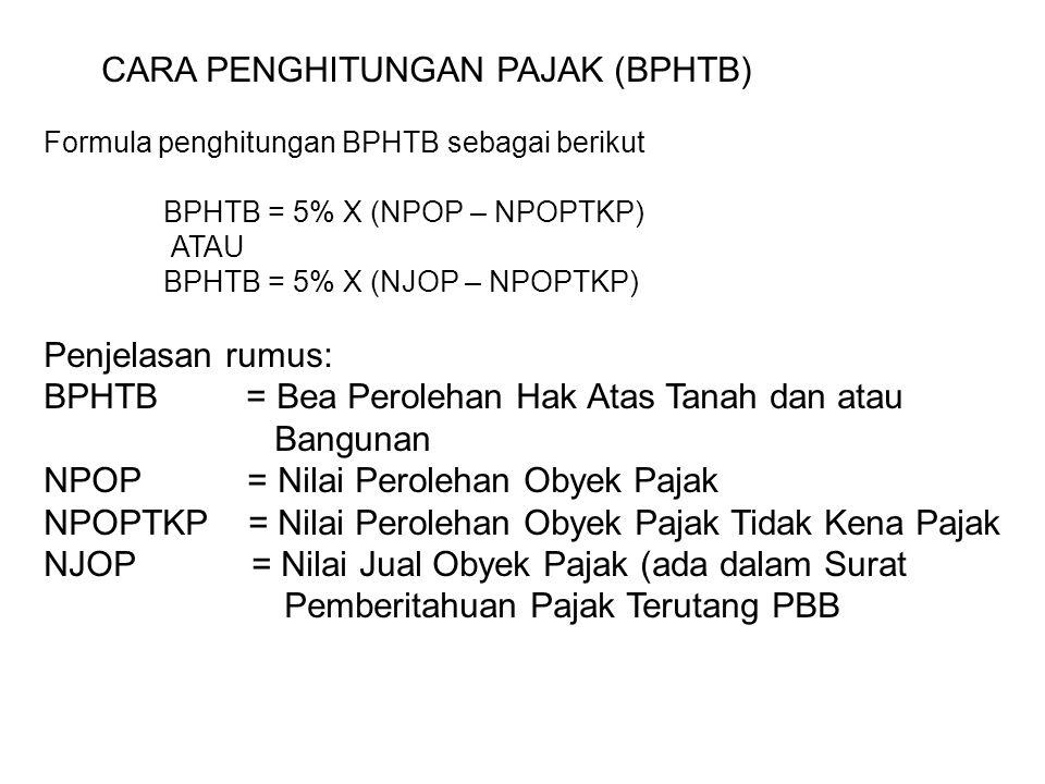 CARA PENGHITUNGAN PAJAK (BPHTB)