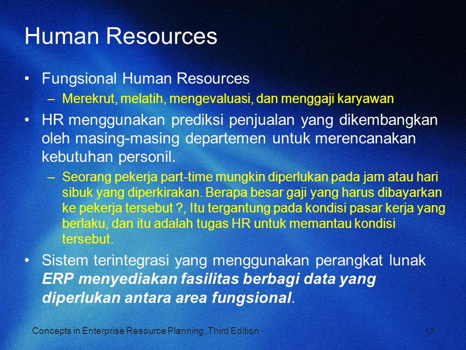 Human Resources Fungsional Human Resources