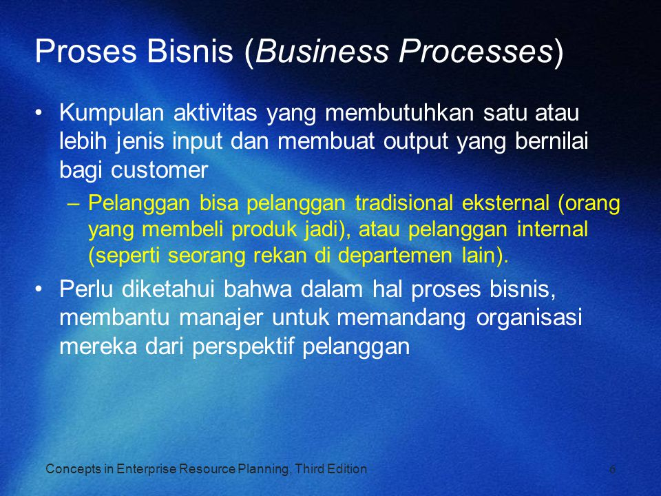 Proses Bisnis (Business Processes)