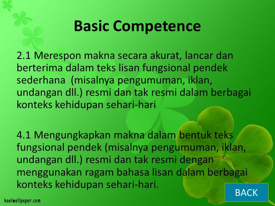 Basic Competence