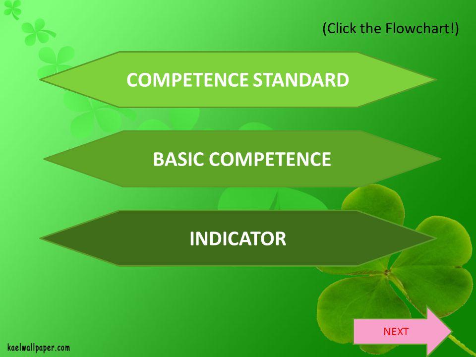 COMPETENCE STANDARD BASIC COMPETENCE INDICATOR
