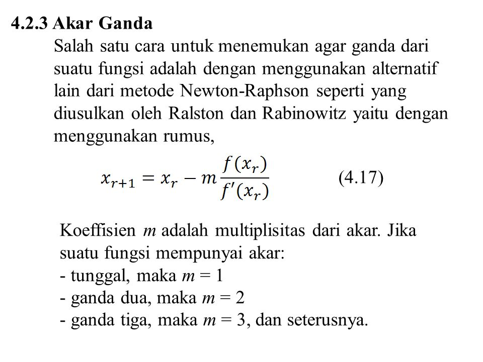 ganda tiga, maka m = 3, dan seterusnya.