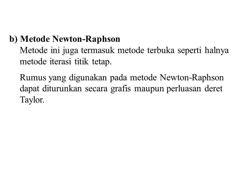 b) Metode Newton-Raphson