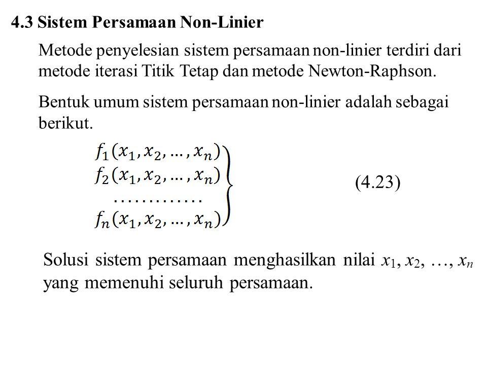 4.3 Sistem Persamaan Non-Linier