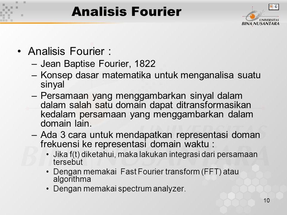 Analisis Fourier Analisis Fourier : Jean Baptise Fourier, 1822
