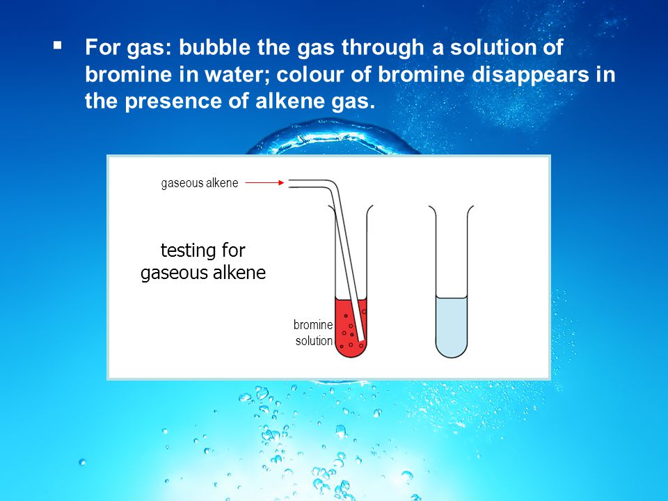 testing for gaseous alkene