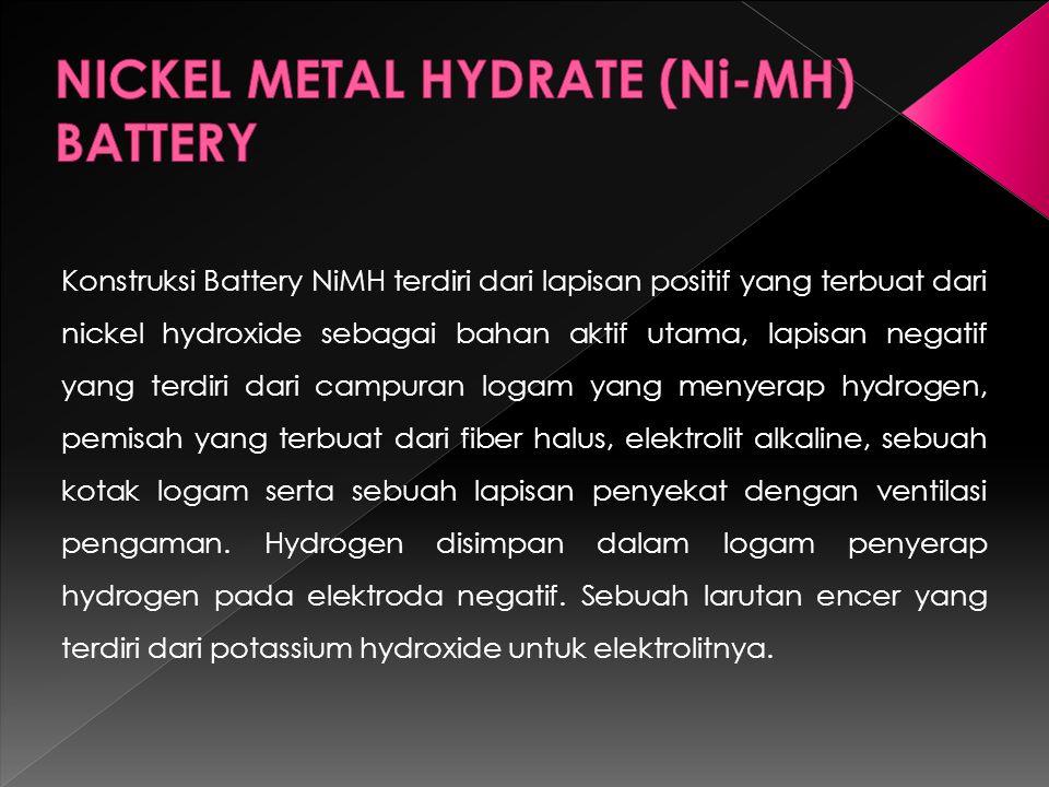 NICKEL METAL HYDRATE (Ni-MH) BATTERY