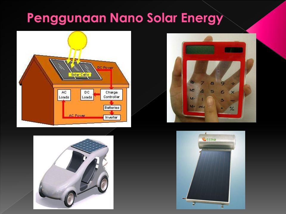 Penggunaan Nano Solar Energy