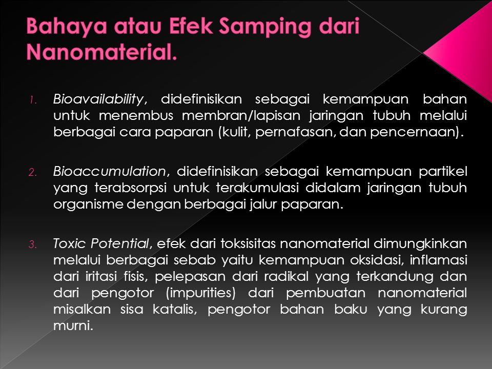 Bahaya atau Efek Samping dari Nanomaterial.