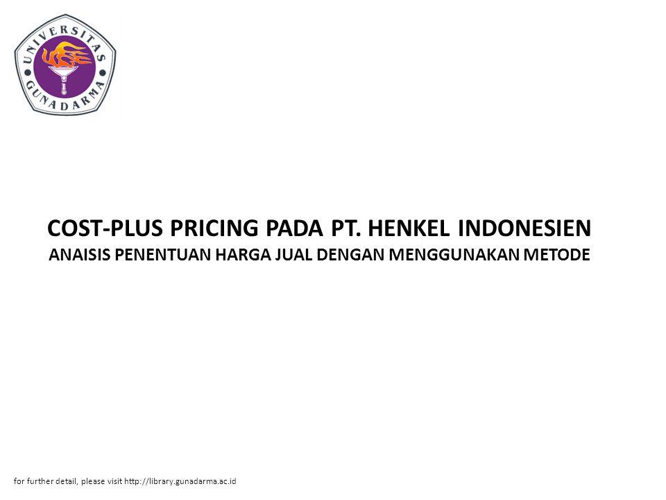 COST-PLUS PRICING PADA PT