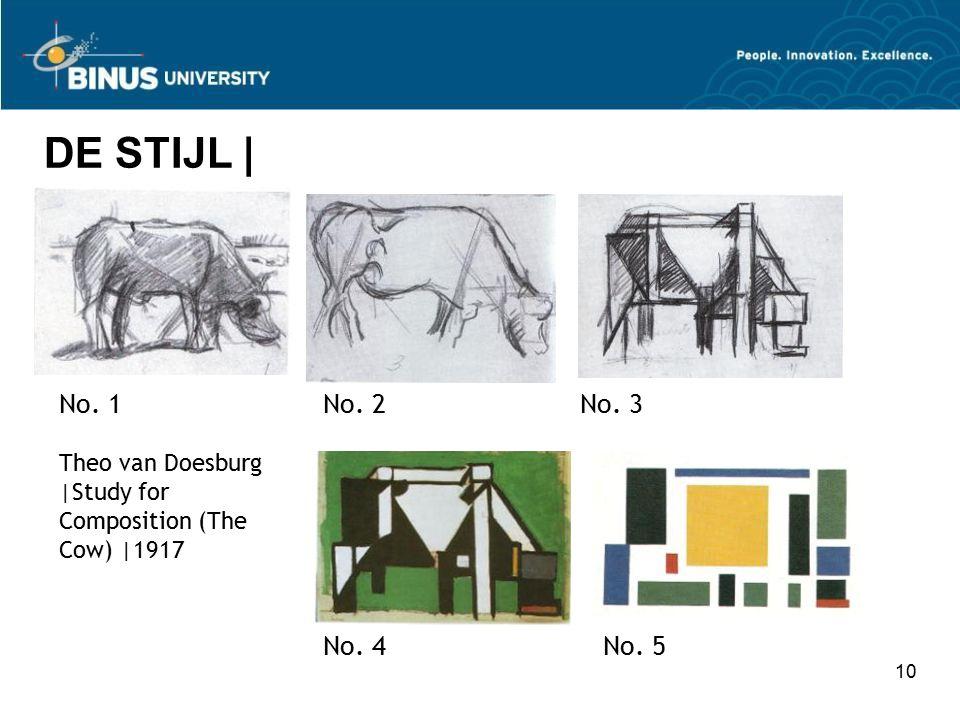 DE STIJL | No. 1 No. 2 No. 3 No. 4 No. 5 Theo van Doesburg