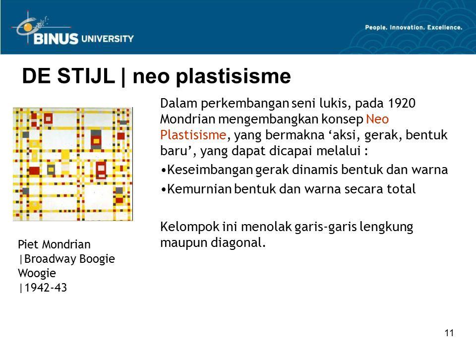 DE STIJL | neo plastisisme