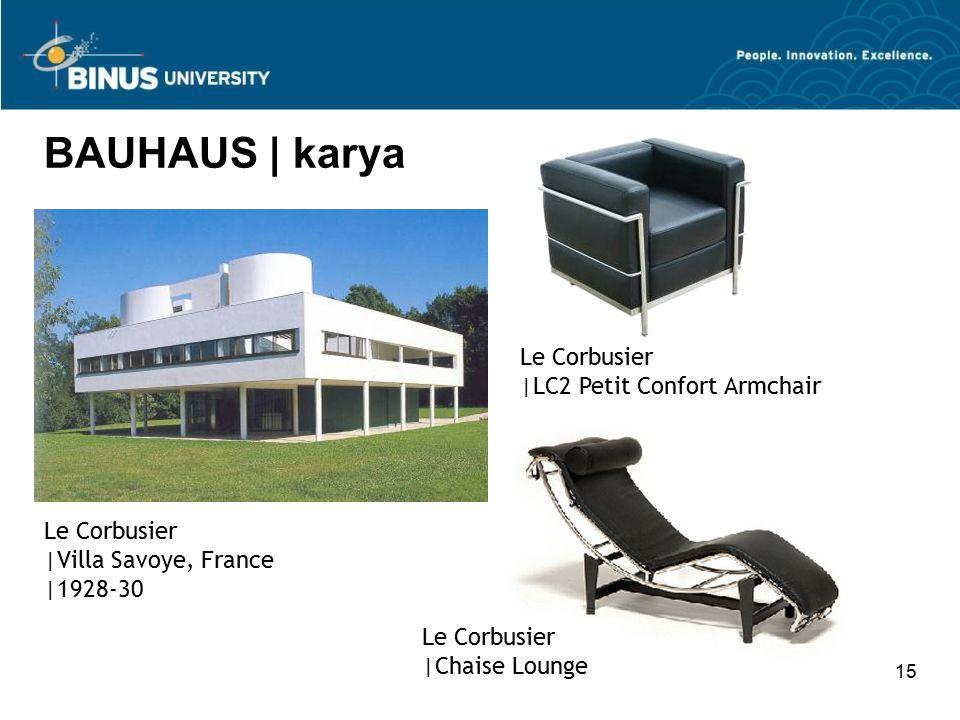BAUHAUS | karya Le Corbusier |LC2 Petit Confort Armchair Le Corbusier