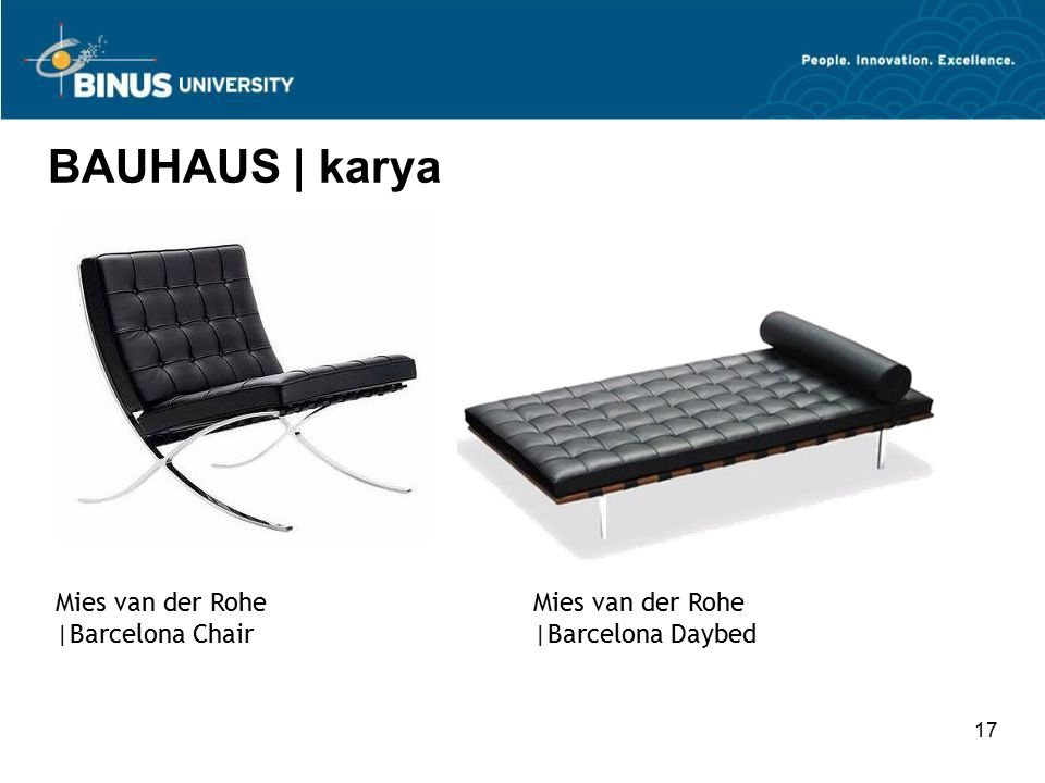 BAUHAUS | karya Mies van der Rohe |Barcelona Chair Mies van der Rohe