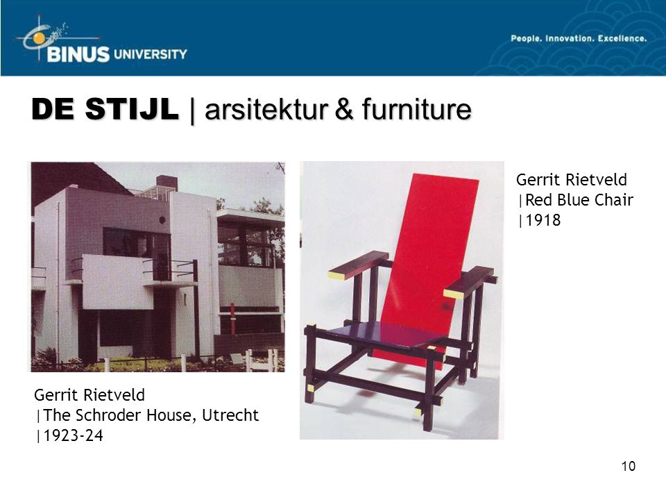 DE STIJL | arsitektur & furniture