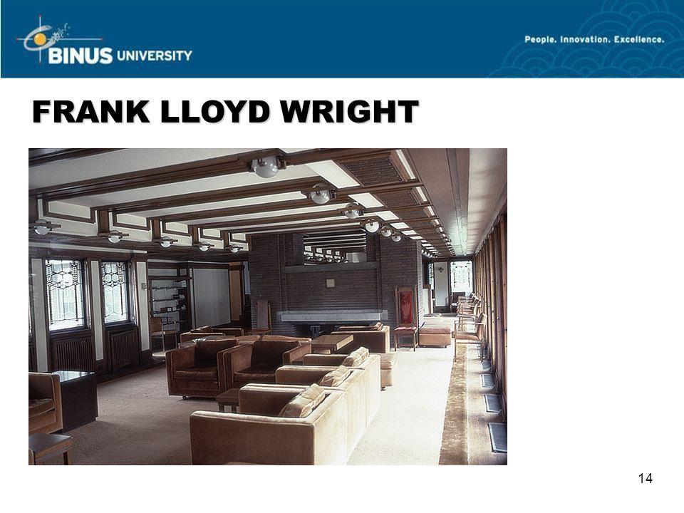 FRANK LLOYD WRIGHT 14