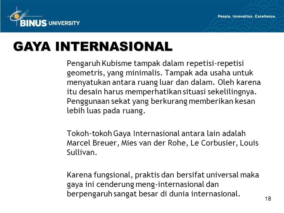 GAYA INTERNASIONAL