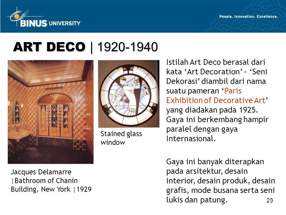 ART DECO | 1920-1940