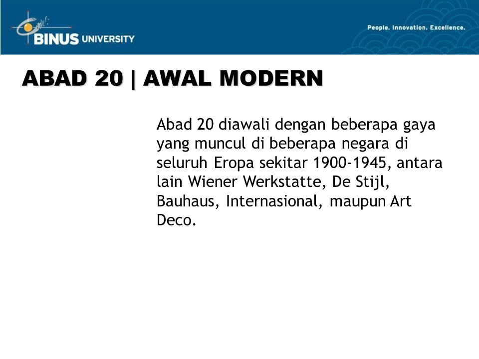 ABAD 20 | AWAL MODERN