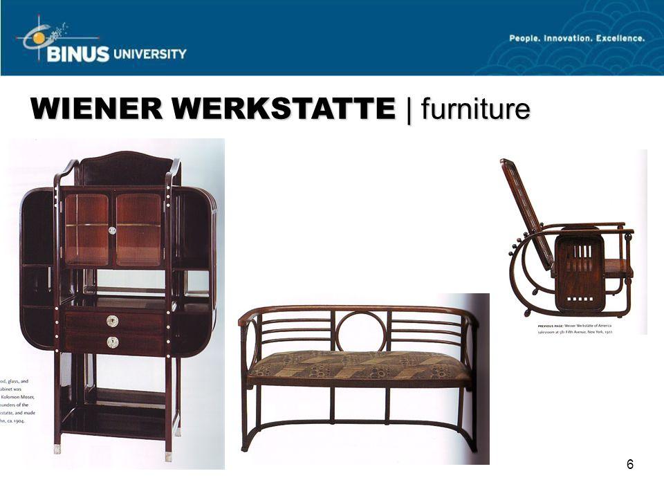 WIENER WERKSTATTE | furniture