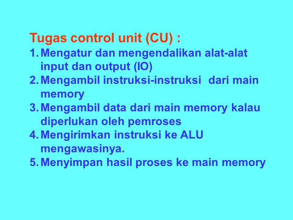 Tugas control unit (CU) :