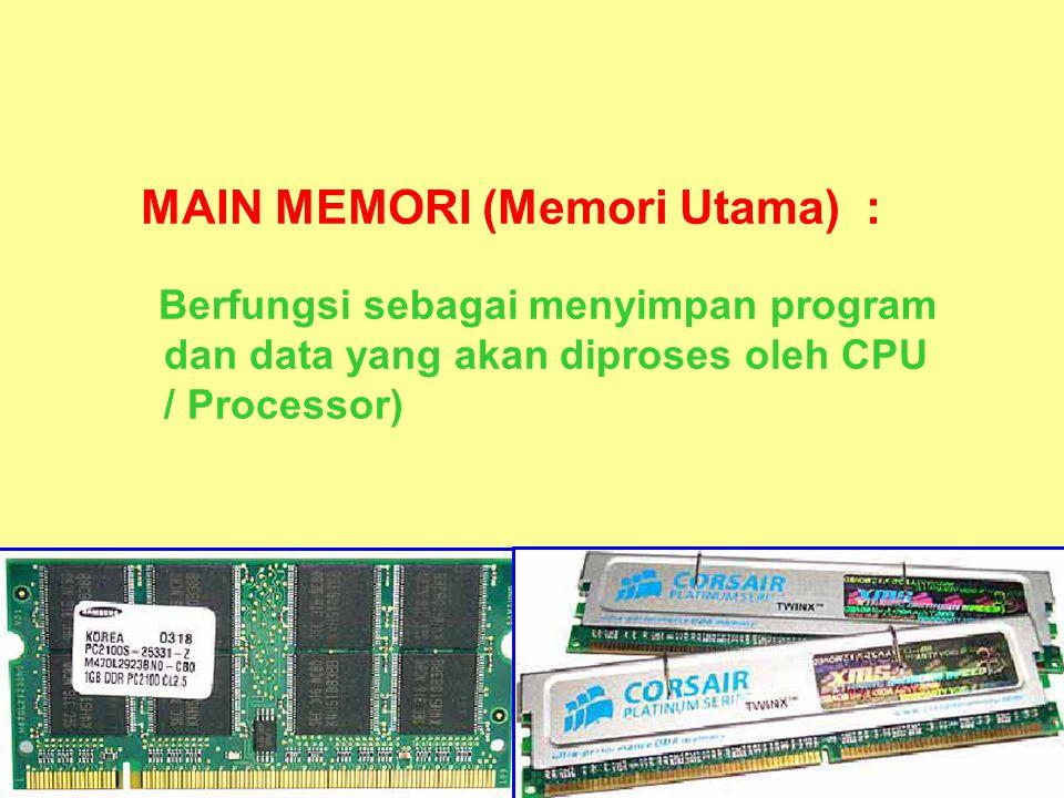 MAIN MEMORI (Memori Utama) :