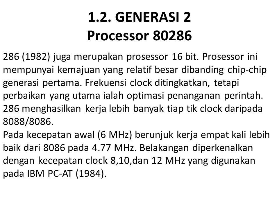 1.2. GENERASI 2 Processor 80286
