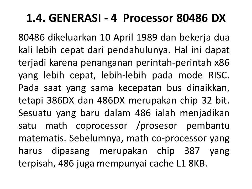 1.4. GENERASI - 4 Processor 80486 DX