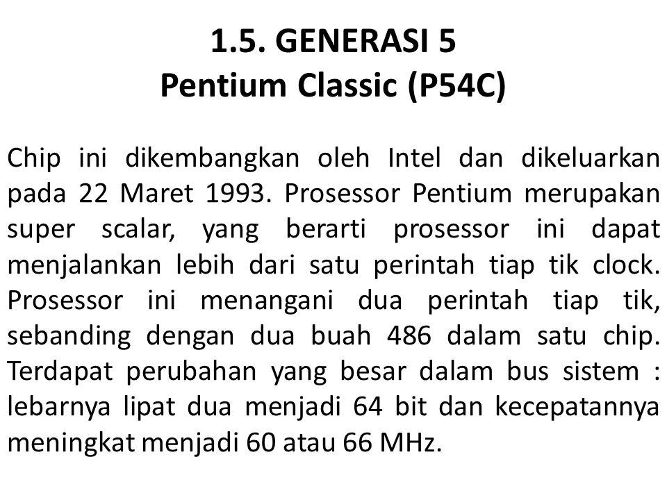 1.5. GENERASI 5 Pentium Classic (P54C)