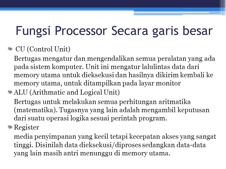 Fungsi Processor Secara garis besar