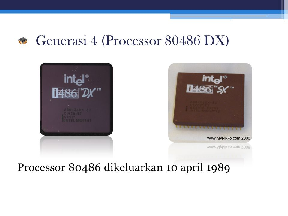 Generasi 4 (Processor 80486 DX)