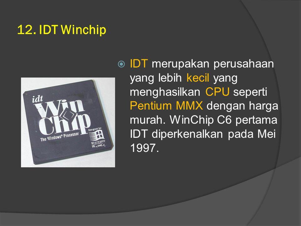 12. IDT Winchip
