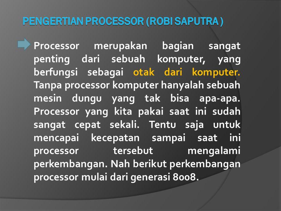 PENGERTIAN PROCESSOR (ROBI SAPUTRA )