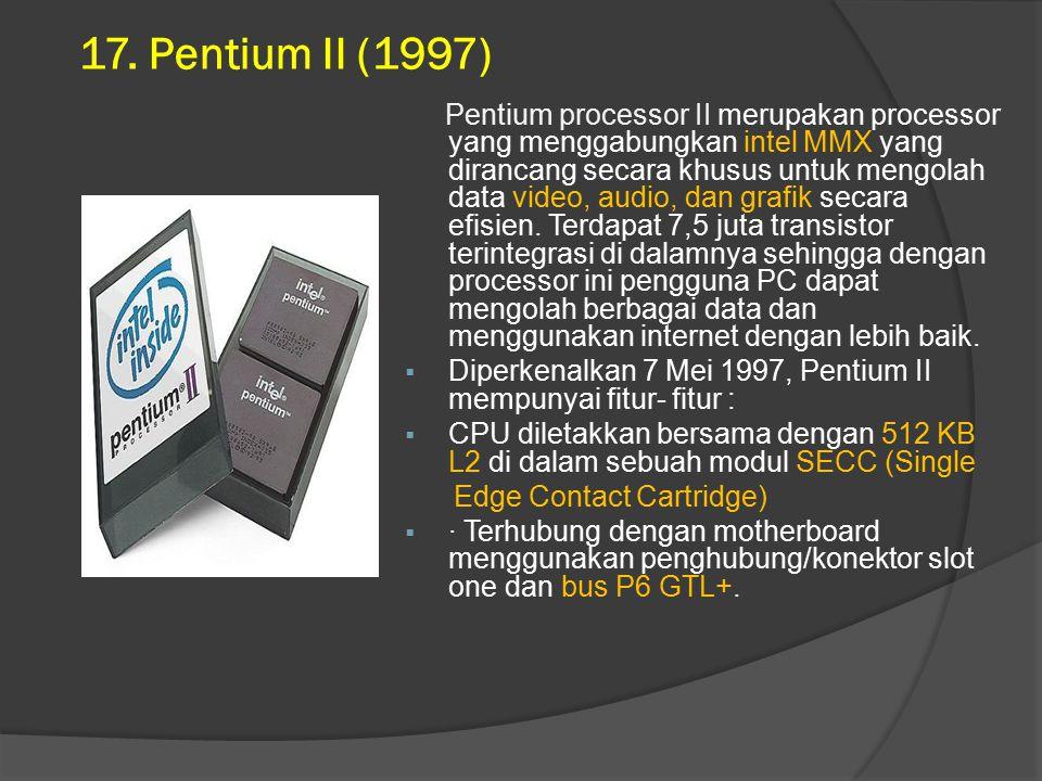 17. Pentium II (1997)