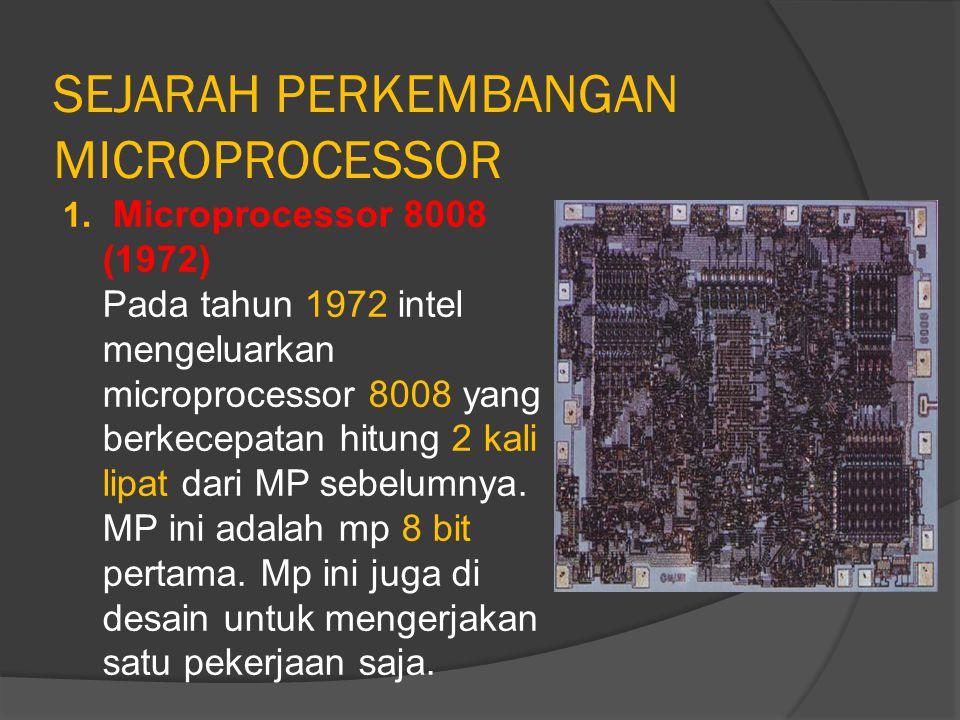 SEJARAH PERKEMBANGAN MICROPROCESSOR