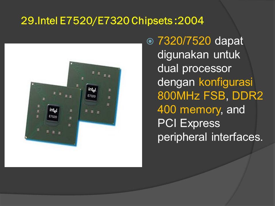 29.Intel E7520/E7320 Chipsets :2004
