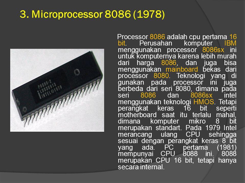 3. Microprocessor 8086 (1978)