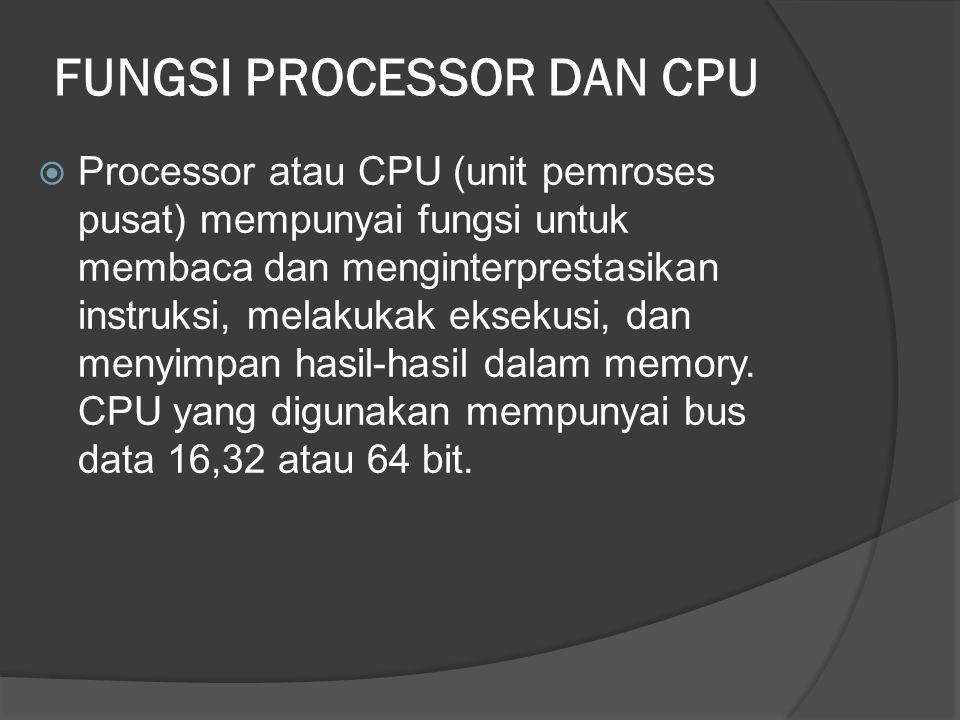 FUNGSI PROCESSOR DAN CPU