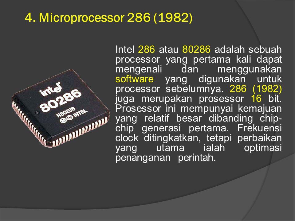 4. Microprocessor 286 (1982)