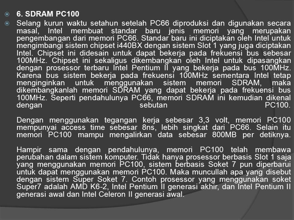 6. SDRAM PC100